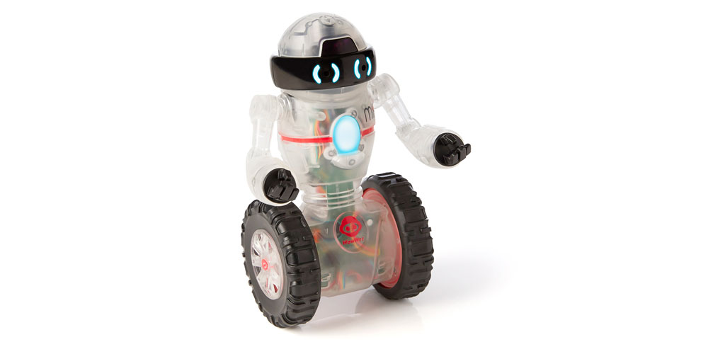 All-terrain wheels help Coder MiP explore.