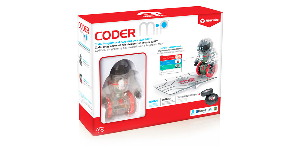 Coder MiP is rechargeable and includes multiple accessories